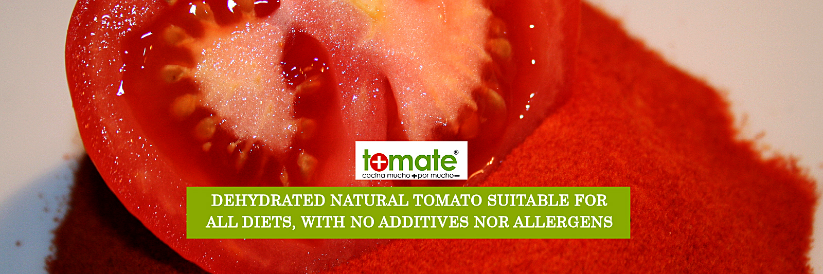 Dehydrated natural tomato suitable for all diets